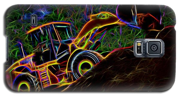 Wheel Loader Moving Dirt - Neon Galaxy S5 Case