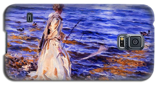 When A Woman Goes Fishing Galaxy S5 Case