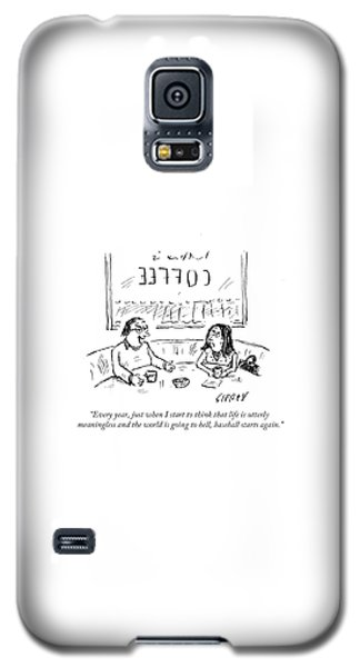 Sport Art Galaxy S5 Case - When I Start To Think That Life Is Utterly by David Sipress