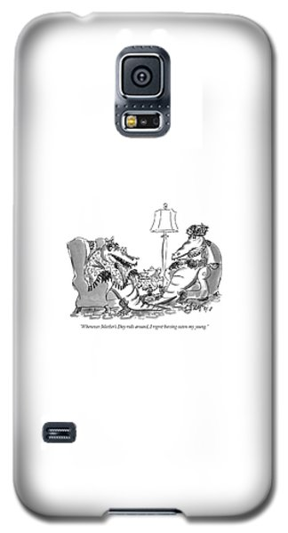 Alligator Galaxy S5 Case - Whenever Mother's Day Rolls by Edward Frascino
