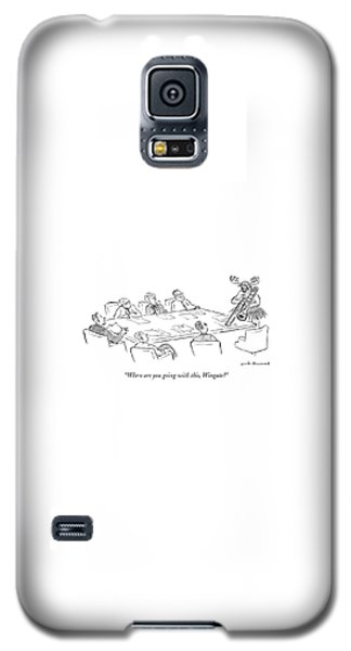Trombone Galaxy S5 Case - Where Are You Going With This by Nick Downes