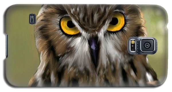 The Gaze Of An Owl - Where's My Dinner?  Galaxy S5 Case by Ron Grafe