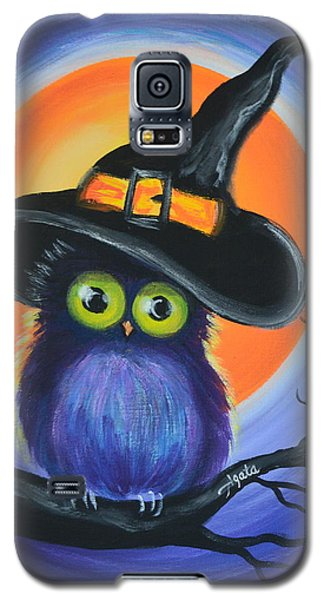 Galaxy S5 Case featuring the painting Owl Spook You by Agata Lindquist