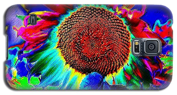 Whimsical Colorful Sunflower Galaxy S5 Case by Annie Zeno