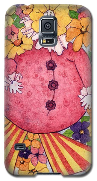 Galaxy S5 Case featuring the painting Whimsy On Parade  by Barbara Jewell