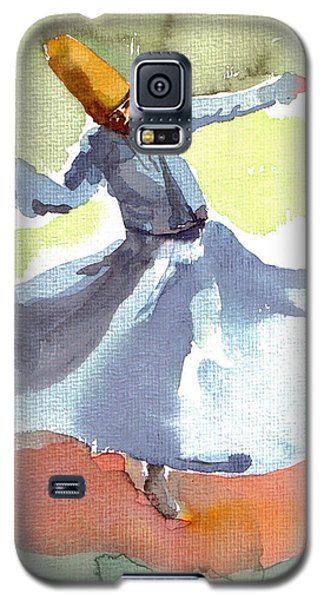 Galaxy S5 Case featuring the painting Whirling Dervish by Faruk Koksal