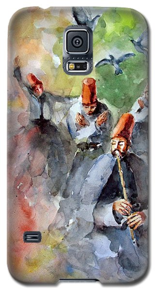 Whirling Dervishes And Pigeons         Galaxy S5 Case by Faruk Koksal