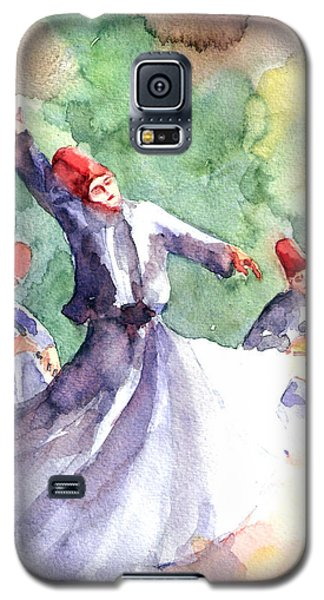 Galaxy S5 Case featuring the painting Whirling Dervishes by Faruk Koksal