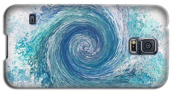 Whirlwind In Blue Galaxy S5 Case