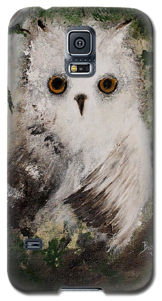 Galaxy S5 Case featuring the painting Whisper The Snowy Owl by Barbie Batson