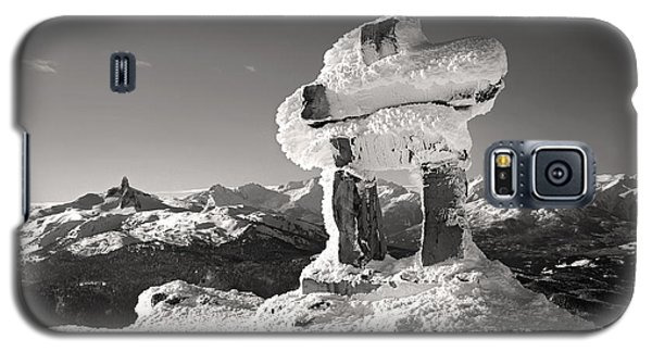 Whistler Summit Inukshuk Black And White Galaxy S5 Case