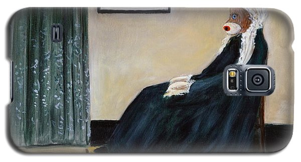 Galaxy S5 Case featuring the painting Whistlin Mother by Randol Burns