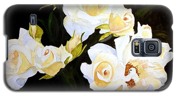 White And Yellow Roses Galaxy S5 Case by Carol Grimes