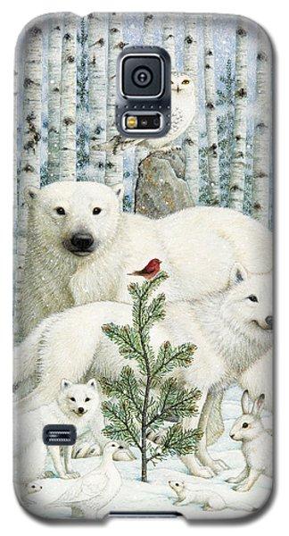 White Animals Red Bird Galaxy S5 Case