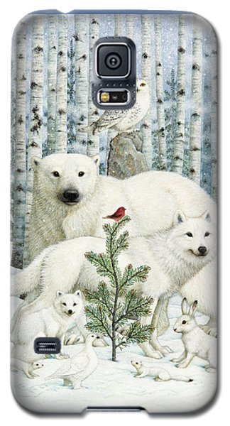 Finch Galaxy S5 Case - White Animals Red Bird by Lynn Bywaters