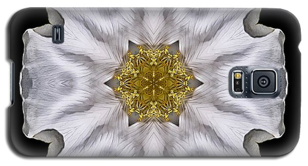 White Beach Rose I Flower Mandala Galaxy S5 Case