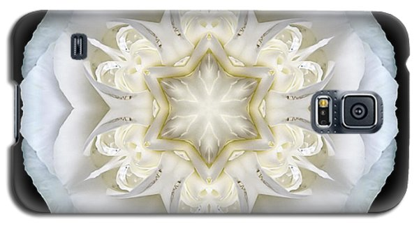 White Begonia II Flower Mandala Galaxy S5 Case