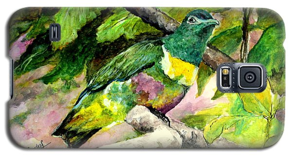 Galaxy S5 Case featuring the painting White-bibbed Fruit Dove  by Jason Sentuf
