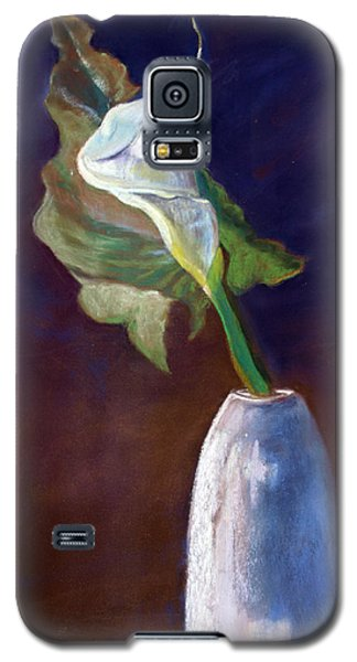 White Calle Lily Galaxy S5 Case by Julie Maas