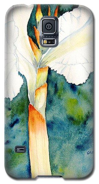 White Canna Flower Galaxy S5 Case by Carlin Blahnik