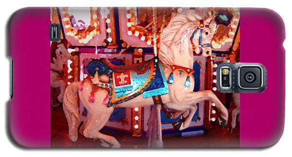White Carousel Horse Galaxy S5 Case