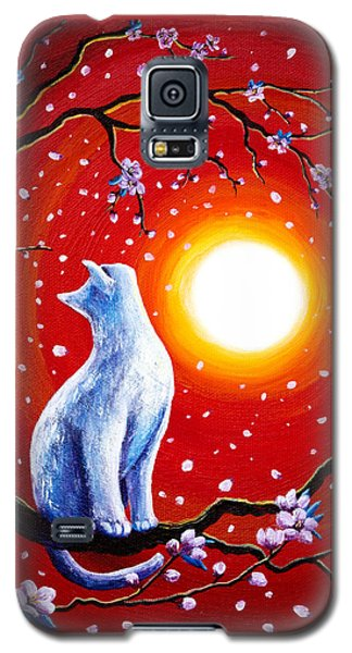 White Cat In Bright Sunset Galaxy S5 Case