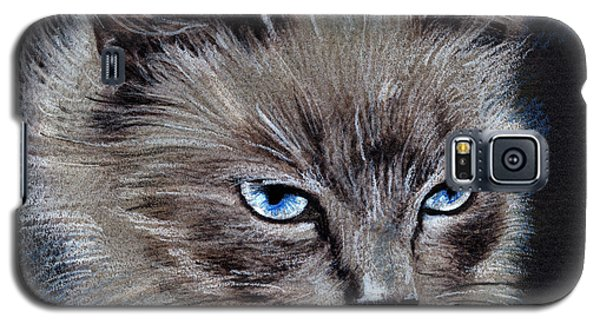 White Cat Portrait Galaxy S5 Case