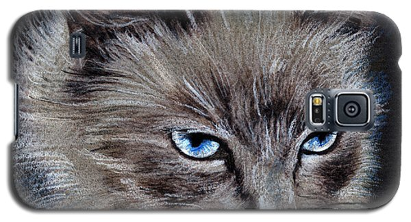 White Cat Portrait Galaxy S5 Case