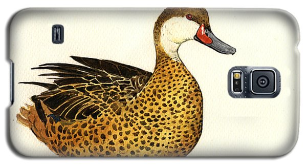 Duck Galaxy S5 Case - White Cheeked Pintail by Juan  Bosco