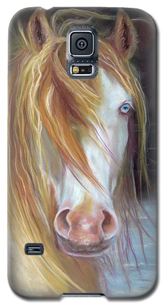 Galaxy S5 Case featuring the painting White Chocolate Stallion by Karen Kennedy Chatham