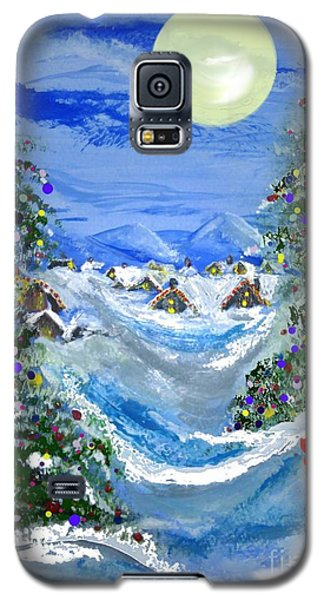 White Christmas At The North Pole Galaxy S5 Case