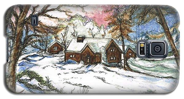 White Christmas Galaxy S5 Case by Teresa White