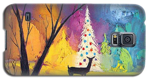 White Christmas Tree Galaxy S5 Case