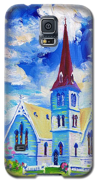 White Church Blue Sky Galaxy S5 Case