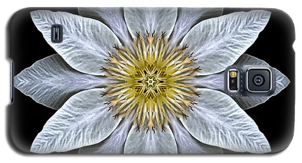 White Clematis Flower Mandala Galaxy S5 Case