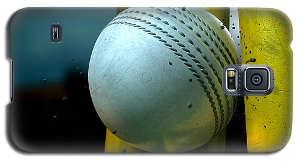 White Cricket Ball And Wickets Galaxy S5 Case by Allan Swart