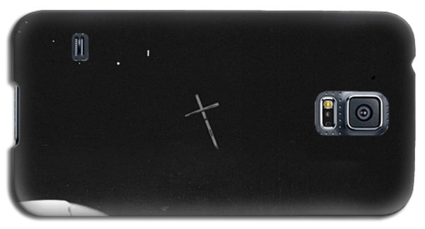 Galaxy S5 Case featuring the photograph White Cross by Steven Macanka