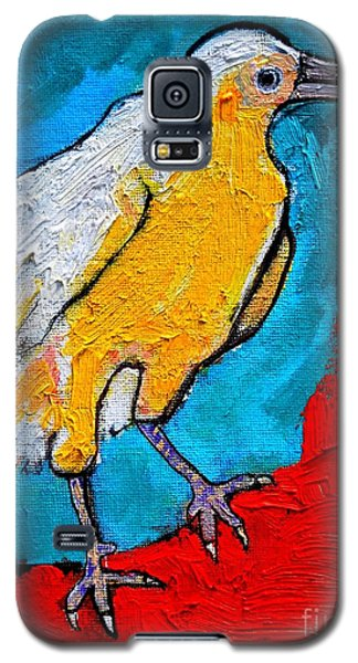 Galaxy S5 Case featuring the painting White Crow by Ana Maria Edulescu