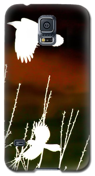 White Crow And The Bluejay Galaxy S5 Case