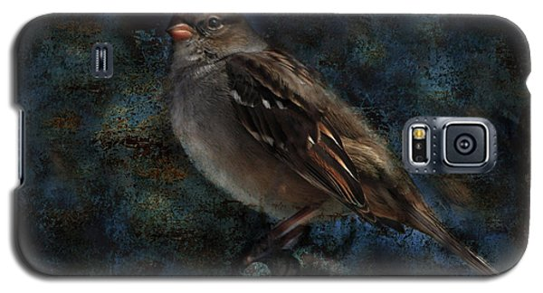 Galaxy S5 Case featuring the photograph White-crowned Sparrow by Barbara Manis