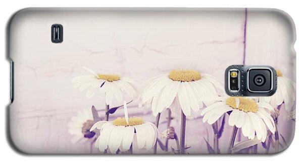White Daisy Mums Galaxy S5 Case