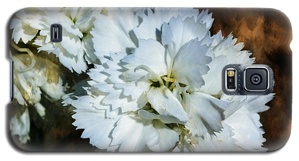 White Dianthus Galaxy S5 Case