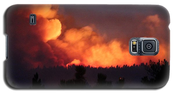 White Draw Fire First Night Galaxy S5 Case