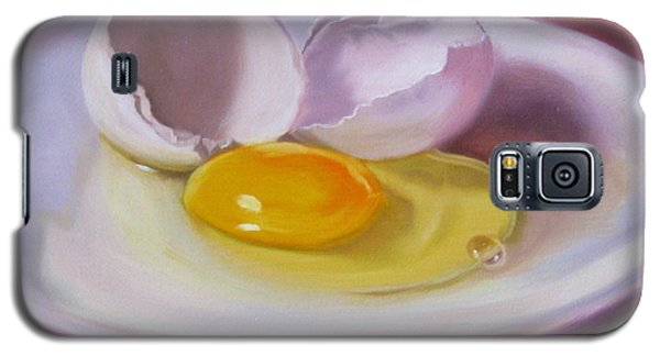 Galaxy S5 Case featuring the painting White Egg Study by LaVonne Hand