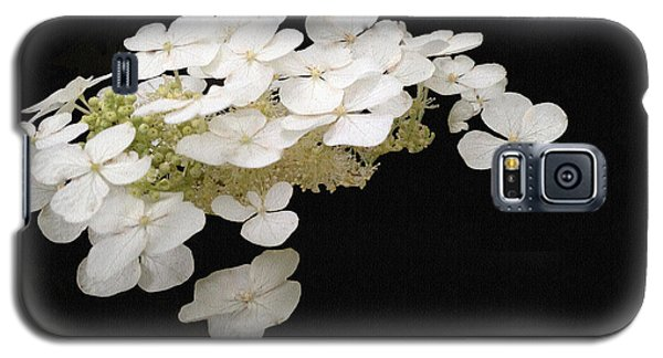 White Floral Canvas Galaxy S5 Case
