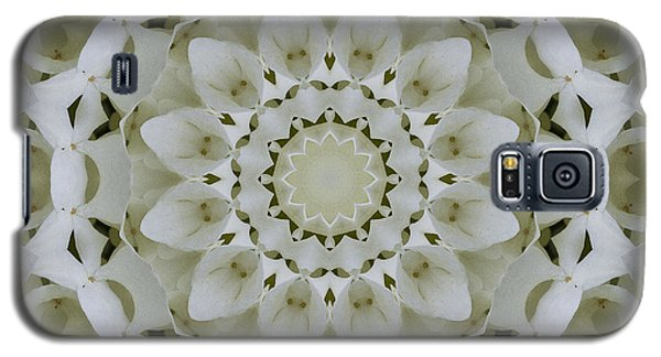 White Floral Mandala 4 Galaxy S5 Case