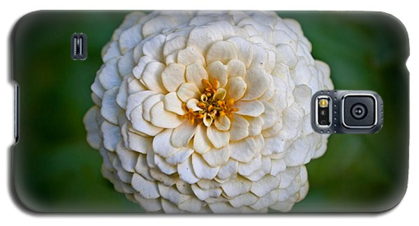 Galaxy S5 Case featuring the photograph White Flower by Jean Haynes