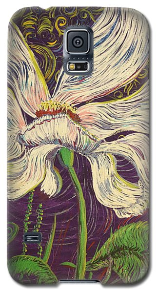White Flower Series 6 Galaxy S5 Case