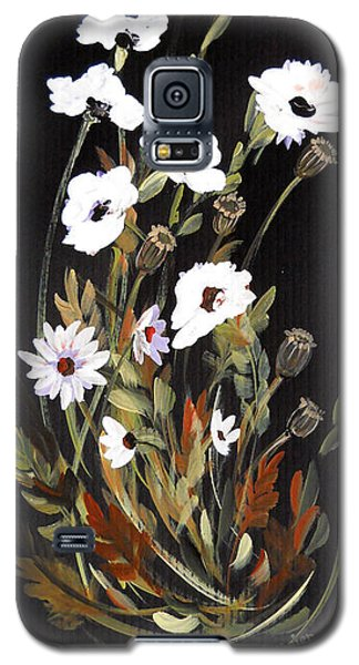 White Flowers Galaxy S5 Case by Dorothy Maier