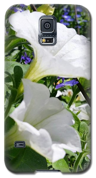 Galaxy S5 Case featuring the photograph White Flowers by Rose Wang